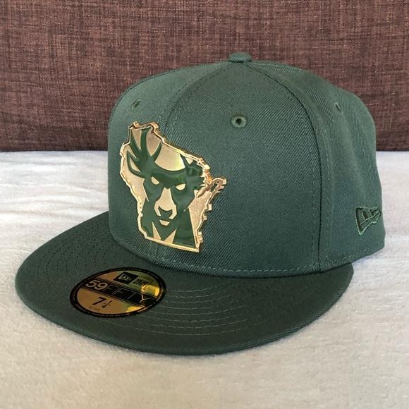 the latest e1e7e bb476 Milwaukee Bucks NBA New Era 59Fifty Fitted Hat